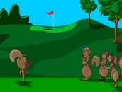 Golf-game-with-squirrels